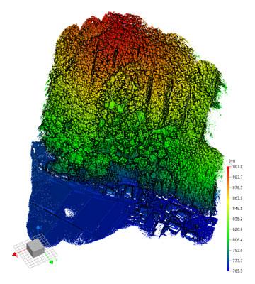 急傾斜地の計測事例:オリジナルデータ