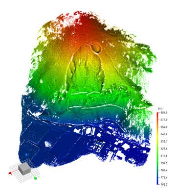 急傾斜地の計測事例:グラウンドデータ