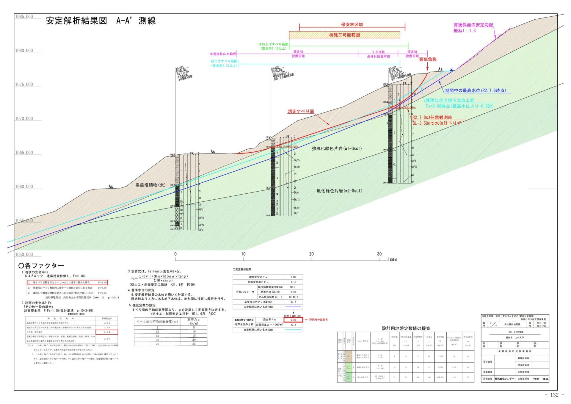 飯田市上村大平 地すべり地質調査業務