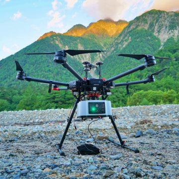 UAV搭載型グリーンレーザーによる河床計測【上高地】